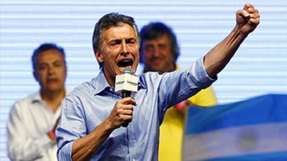 """Mauricio Macri insistiu várias vezes na ideia de """"mudança"""" e """"transformação"""" no seu discurso de vitória"""