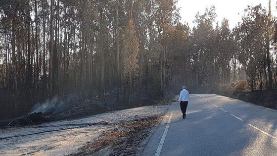 Santana caminhounasestradaspelomeio da florestaardida,passou pelos edifícios destruídos efaloucomalguns doshabitanteslocais
