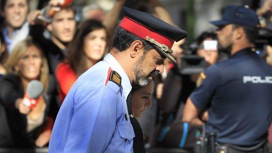 Josep Lluis Trapero, chefe da polícia catalã, está a ser investigado pelo crime de sedição