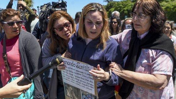 """Jesica Gopar, mulher do tripulante Fernando Santilli. """"Morreram todos"""", pensou, quando soube da explosão"""