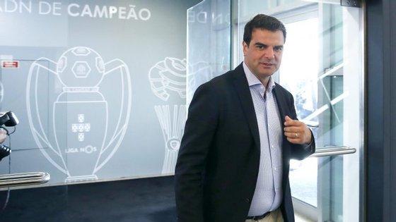 Rui Pedro Soares falou aos jornalistas depois da vitória do Belenenses frente ao Chaves, na sexta-feira