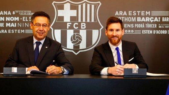 O craque argentino de 30 anos chegou ao Barça no ano 2000, com 13 anos