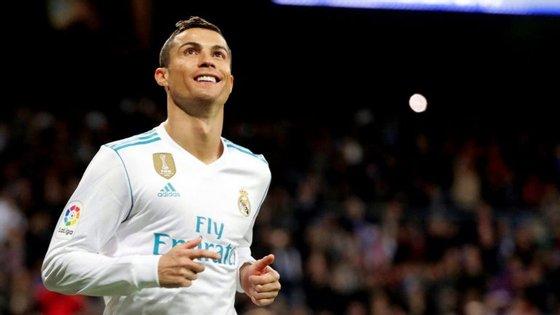Cristiano Ronaldo. O Real Madrid venceu o Málaga por 3-2