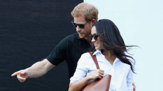 O príncipe Harry e Meghan Markle na primeira aparição pública, em setembro deste ano, num torneio de ténis em Toronto