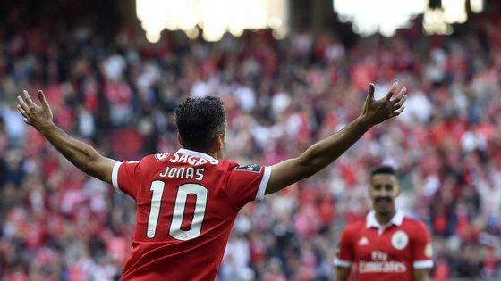 Jonas reforçou a posição de melhor marcador da Liga, com 15 golos em apenas 12 jogos disputados até ao momento
