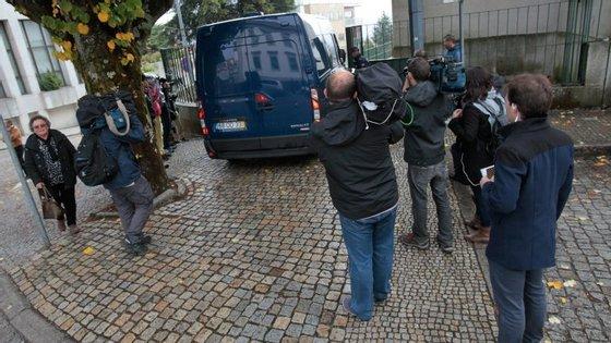 Pedro Dias na chegada ao tribunal para a primeira sessão do julgamento, que foi a 3 de novembro. Desde então ainda não falou