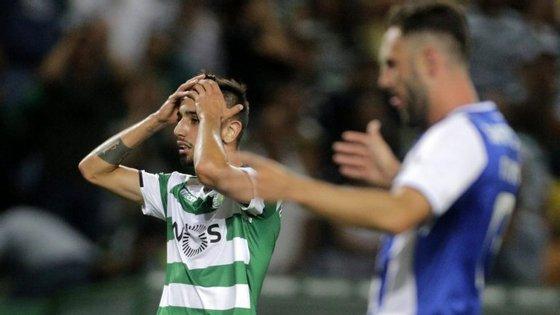 Bruno Fernandes e Miguel Layún no nulo em Alvalade na Liga: a presente época terá dose reforçada de clássicos