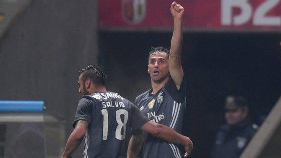Jonas começou e concluiu a jogada do segundo golo do Benfica, após assistência de André Almeida