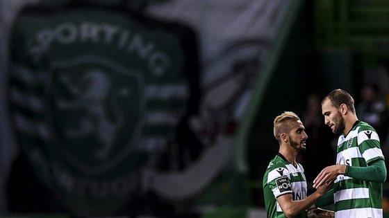 Rúben Ribeiro e Bas Dost construíram o golo que abriu caminho à vitória do Sporting (e ao hat-trick do holandês)