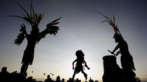 Dança para comemorar um ciclo completo do calendário Azteca