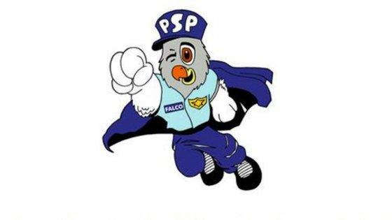 Falco, a mascote da Polícia de Segurança Pública