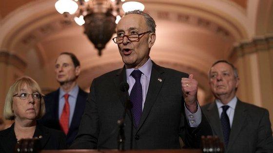 Chuck Schumer, líder dos democratas no Senado