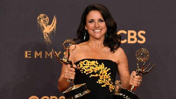 A atriz na Gala dos Emmys, em 2017