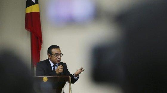 Francisco Guterres Lu-Olo anunciou a sua decisão no Palácio Presidencial, em Díli