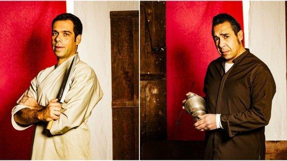 O chef Luís Cardoso (à esq.) e o bartender Vasco Martins (à dir.)