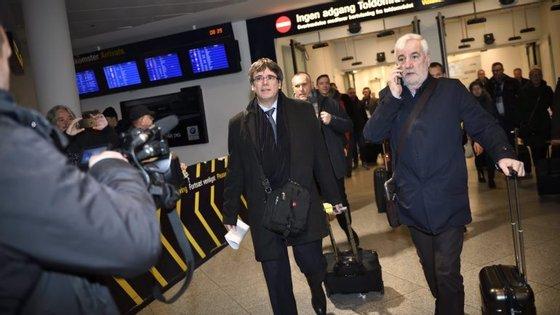 Carles Puigdemont à chegada á Bélgica, a 30 de outubro
