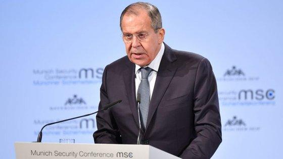 Sergey Lavrov falou este sábado na conferência de segurança que decorre em Munique, na Alemanha