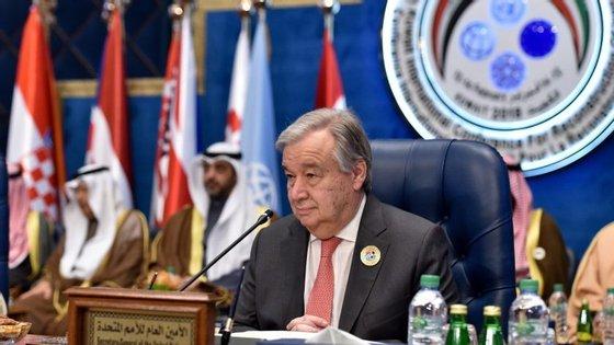 António Guterres é secretário-geral das Nações Unidas desde 1 de janeiro de 2017