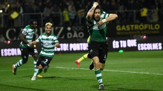 A celebração de Coates após o golo marcado em cima do final dos descontos concedidos por João Capela