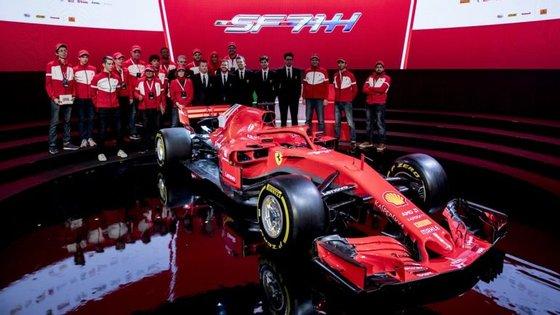 A Ferrari apresentou o novo monoveículo esta quinta-feira