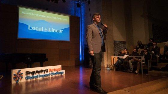 Thomas Kriese, um dos responsáveis da Singularity University. que esteve no evento desta segunda-feira, em Cascais