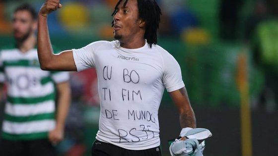 Gelson Martins já tinha deixado a mesma mensagem durante a semana para Rúben Semedo no Instagram