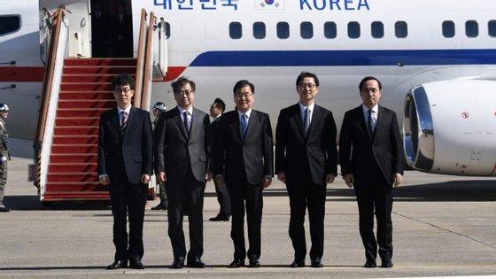Não se sabe se a delegação norte-coreana irá encontrar-se com Kim Jong-un