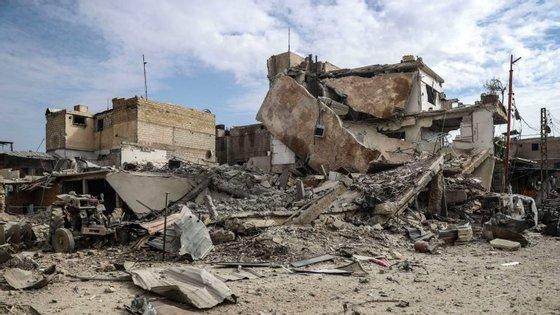 Um dos exemplos de destruição do conflito na Síria