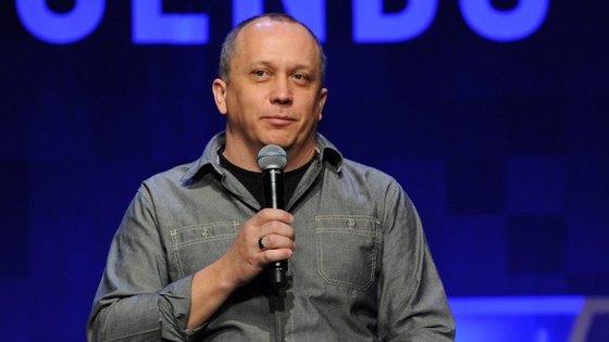 Greg Street, odiretor de design da Riot Games, a empresa criadora do LoL foi um dos convidados da SINFO 25 do IST