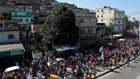Marielle Franco e o seu motorista foram assassinados esta quarta-feira, no Rio de Janeiro.