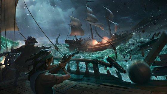 Sea of Thieves é um jogo exclusivamente online, sem restrições de acção para os jogadores.