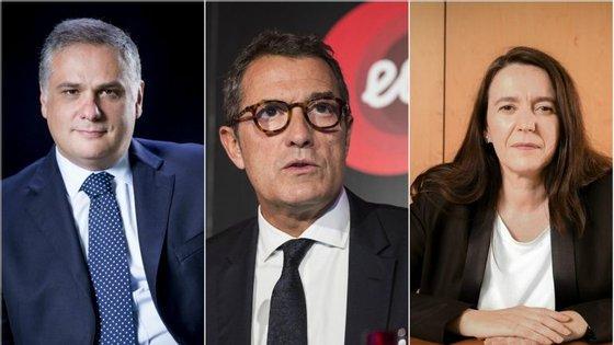 Jorge Seguro Sanches (secretário de Estado da energia), António Mexia (presidente da EDP, e Cristina Portugal de Andrade (presidente da ERSE)