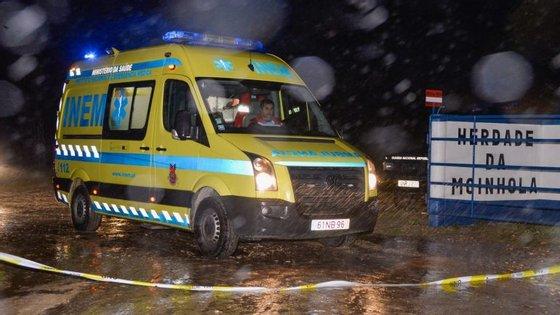 O acidente aconteceu na zona de Moinhola, nafreguesia de Landeira, em Vendas Novas
