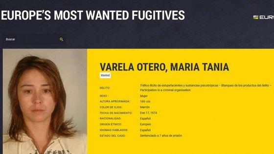 Tania Varela era a única mulher na lista dos 70 criminosos mais procurados da Europol