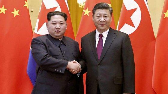 Esta foi a primeira vez que os dois líderes asiáticos se encontraram