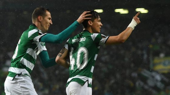 Montero apontou o único golo do Sporting, numa primeira parte onde os leões tiveram várias oportunidades