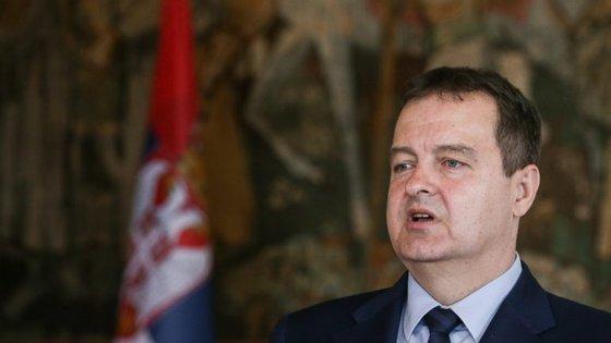 Ivica Dacic esteve numa vista oficial a Lisboa para um encontro com o homólogo Augusto Santos Silva