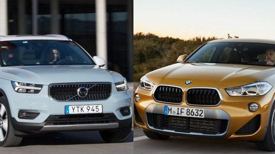 Volvo XC40 contra BMW X2. Neste frente-a-frente em agilidade, o modelo sueco porta-se melhor, mas a diferença de eficácia entre SUV e berlinas é grande. Muito grande
