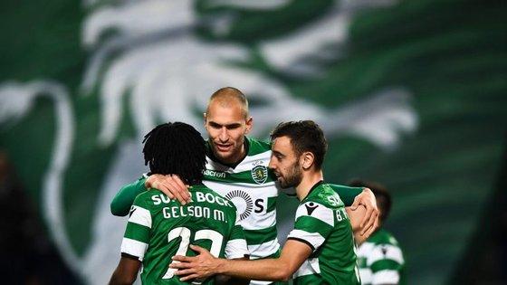 Bruno Fernandes, Gelson Martins e Bas Dost: o triunfo que continua a fazer a diferença no ataque do Sporting
