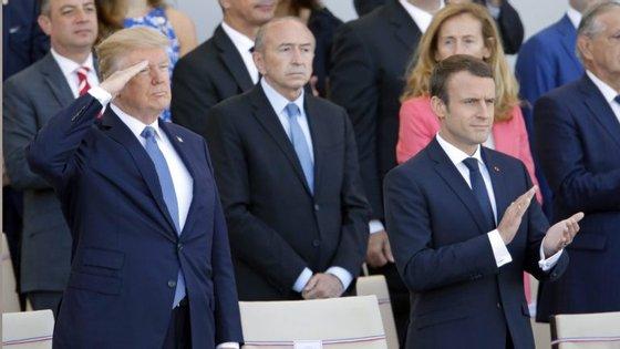 O presidente francês chegou esta segunda-feira a Washington e a visita oficial estende-se até quarta-feira