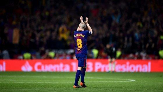Andrés Iniesta conquistou um total de 31 títulos nos seniores do Barcelona, onde se estreou na época de 2002/03