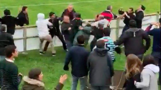 Imagem do vídeo de António Seixas, que captou vários momentos de agressão no jogo Direito-Agronomia