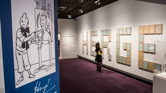 """As duas tiras de banda desenhada, assinadas pelo """"pai de Tintim"""" Hergé, foram adquiridas por um colecionador de Bruxelas"""