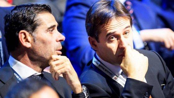 Hierro e Lopetegui tiveram uma longa conversa depois do segundo ser anunciado como treinador do Real Madrid