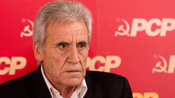 Jerónimo de Sousa falou em conferência de imprensa para apresentar as conclusões da reunião do Comité Central do PCP