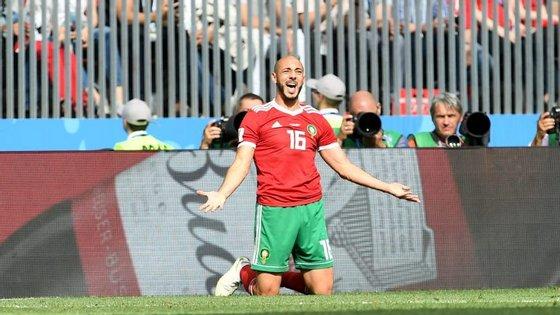 Amrabat apontou o dedo ao árbitro americano Mark Geiger após a derrota de Marrocos frente a Portugal