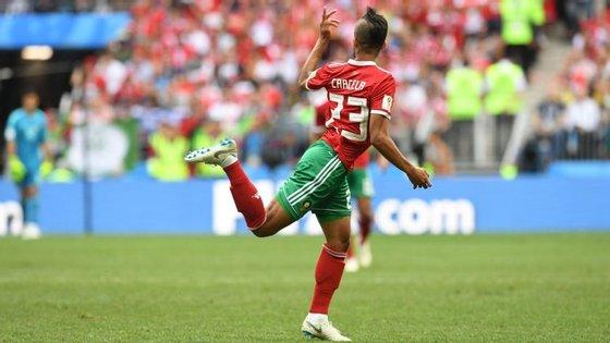 Mehdi Carcela fez a estreia no Mundial diante de Portugal, substituindo Belhanda no último quarto de hora do encontro