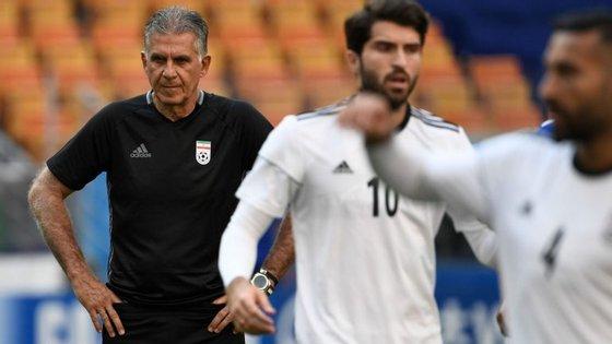 Carlos Queiroz elogiou muito a Seleção Nacional mas está apostado em fazer história pelo Irão, chegando à segunda fase