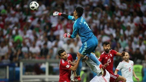Beiranvand, ou Ali, não sofreu golos com Marrocos e foi um dos principais destaques na derrota por 1-0 com a Espanha