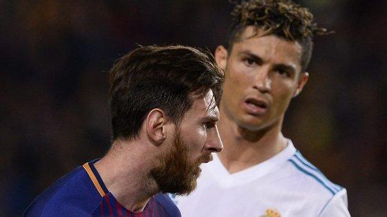 Lionel Messi e Cristiano Ronaldo não se separam